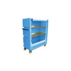 "4ft 11"" Distribution Trolley (Solid Doors with 2 Aliminium Shelves)"