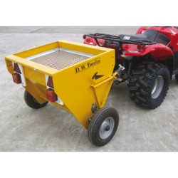 Drop Salt Spreader - 16hp Trailed - 210L Heavy Duty Wheel Driven
