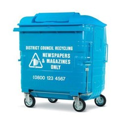 Galvanised Recycling Bin (1280 litre)