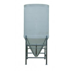 3150 Litre 60 Degree Open Top Cone Tank No Frame