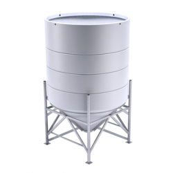 6900 Litre 45 Degree Open Top Cone Tank No Frame