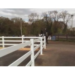Pack of 4 Vinyl Equine Fencing 2 rails, 8ft wide x 3ft high