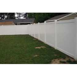 Pack of 8 White Privacy Fence TG - 8ft Wide and 6ft High