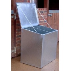 Premium Galvanised Feed Bin -Double