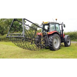 20ft - 3 Way Mounted Harrow, Folding Wings - Double Depth