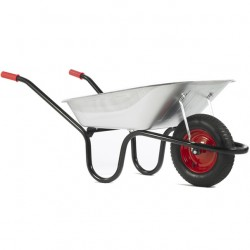 90L Chasseur Galvanised Barrow - Pneumatic Wheel