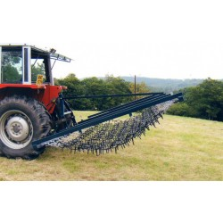 16ft Mounted Hydraulic Folding Flexible Chain And Spike Harrow