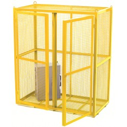 Security Cages - Painted Yellow Mobile