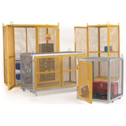 Security Cages - Galvanised Mobile