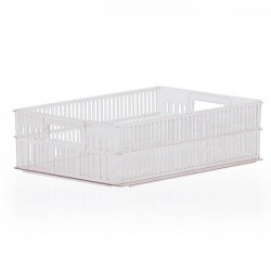 Stacking Container 114mm high with Hand Holes