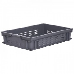 Stacking Container 23.7L - Perforated Side with Hand Grips