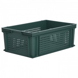 Stacking Container 43.8L - Perforated Sides with Hand Grips