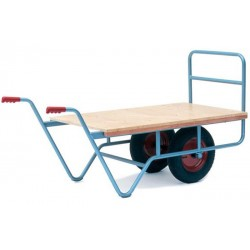 Twin Wheel Flatbed Horticultural Trolley