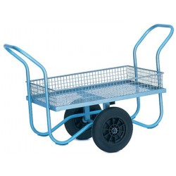 Mesh Garden Hand Trolley with Sides