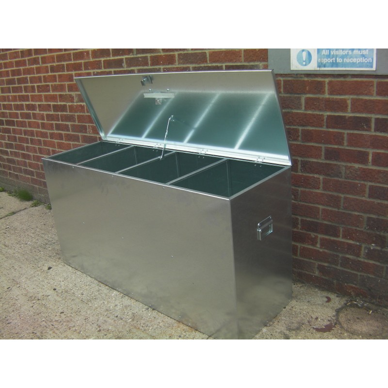 Box Jumps For Sale >> Heavy Duty Large Galvanised Feed Bin - 4 compartments ...