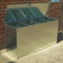 Heavy Duty Large Galvanised Feed Bin - 4 compartments