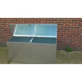 Heavy Duty Wheeled - 2 Compartments Extra Large Galvanised Feed Bin