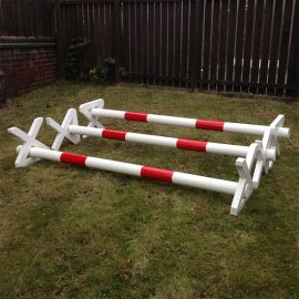 Show Jumps - Cavaletti Pole - Set Of 3 - 8ft