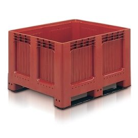 Plastic Pallet Box - 543L Solid Geobox With Two Runners