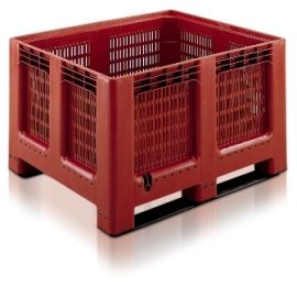 Plastic Pallet Box - 543L Ventilated Geobox With Two Runners