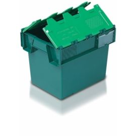 Tote Box, Attached Lid Container - 25L