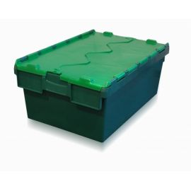 Tote Box, Attached Lid Container - 40L