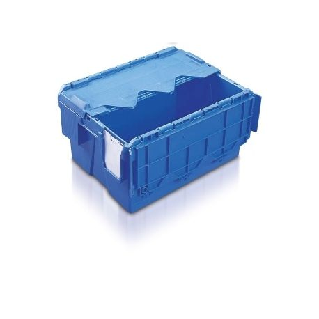 18L Tote Box, Attached Lid Container (Kaiman)