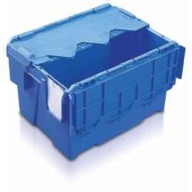 22L Tote Box, Attached Lid Container (Kaiman)