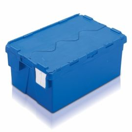48L Tote Box, Attached Lid Container (Kaiman)