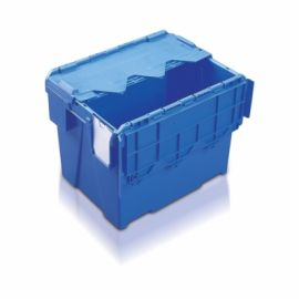 54L Tote Box, Attached Lid Container (Kaiman)
