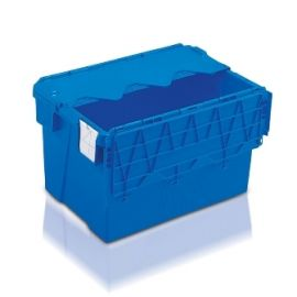 65L Tote Box, Attached Lid Container (Kaiman)