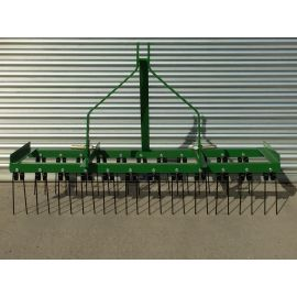 6ft Wide Spring Tine Harrow (2 Rows)