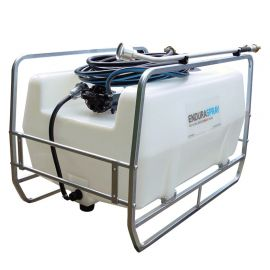 200L Skid Mounted Watering Unit - 12V 19L/min with 10m Hose, Garden Nozzle and 900 Watering Lance