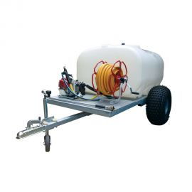 "700L Site Tow Trailer Mounted Water Bowser - 1"" Pump - 120L/m - Single Axle"