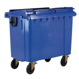 4 Wheeled Bin with Non-Lockable Lid - 660L