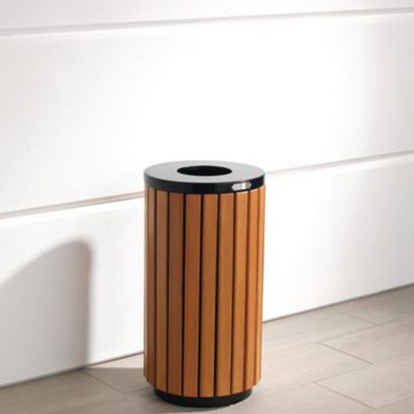 42L Wood Effect Outdoor Litter Bin