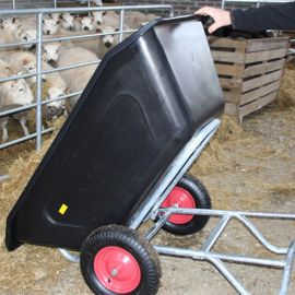 240L Large Capacity Tipping Wheelbarrow
