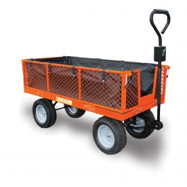 Utility Cart - Large Garden Trolley with Free Liner & Puncture Proof Tyres)