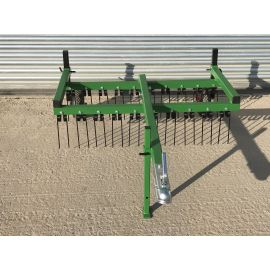 Trailed 4ft Wide 2 Row ATV Spring Tine Harrow