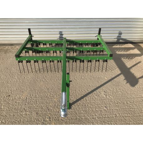 Trailed 6ft Wide 2 Row ATV Spring Tine Harrow