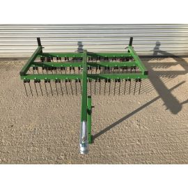 Trailed 7ft Wide 2 Row ATV Spring Tine Harrow