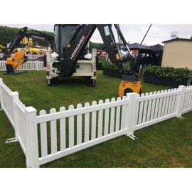 """6ft wide x 32"""" high Temporary Picket Fence (Assembled)"""