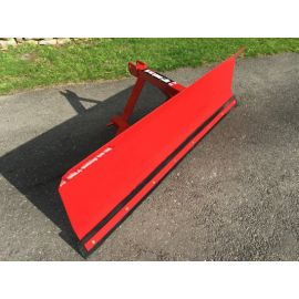 "Heavy Duty Snow Plough 2'4"" High 6 ft Wide - with skids, 3 point linkage"