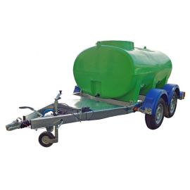 1500L Highway Tow Trailer Mounted Water Bowser - Double Axle