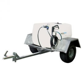 300L Professional Trailer Mounted Sprayer - 15L/min - 30m Manual Rewind Hose Reel