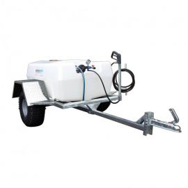 400L Professional Trailer Mounted Sprayer - 19L/min - 30m Manual Rewind Hose Reel