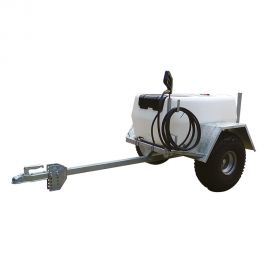 200L Pro Trailer Sprayer with 11.4L/min Pump - 30m Manual Rewind Hose Reel