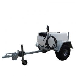 200L Professional Trailer Mounted Sprayer - 15L/min - 30m Manual Rewind Hose Reel