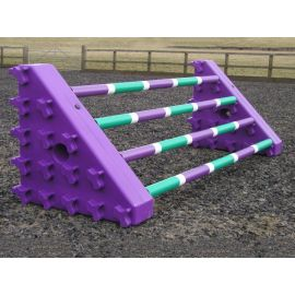 Combi Block (Pair) - Purple Uprights with black poles