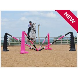 Spider Jump Set - Pink / Black Uprights with matching poles